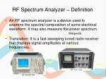 rf spectrum analyzer definition