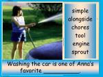 washing the car is one of anna s favorite