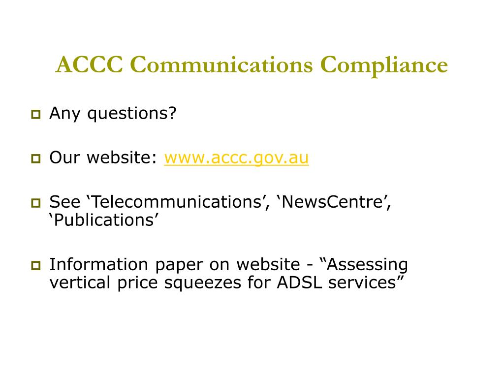 ACCC Communications Compliance
