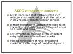 accc competition concerns