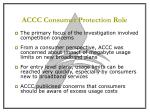 accc consumer protection role