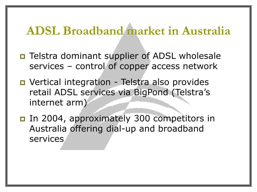 ADSL Broadband market in Australia
