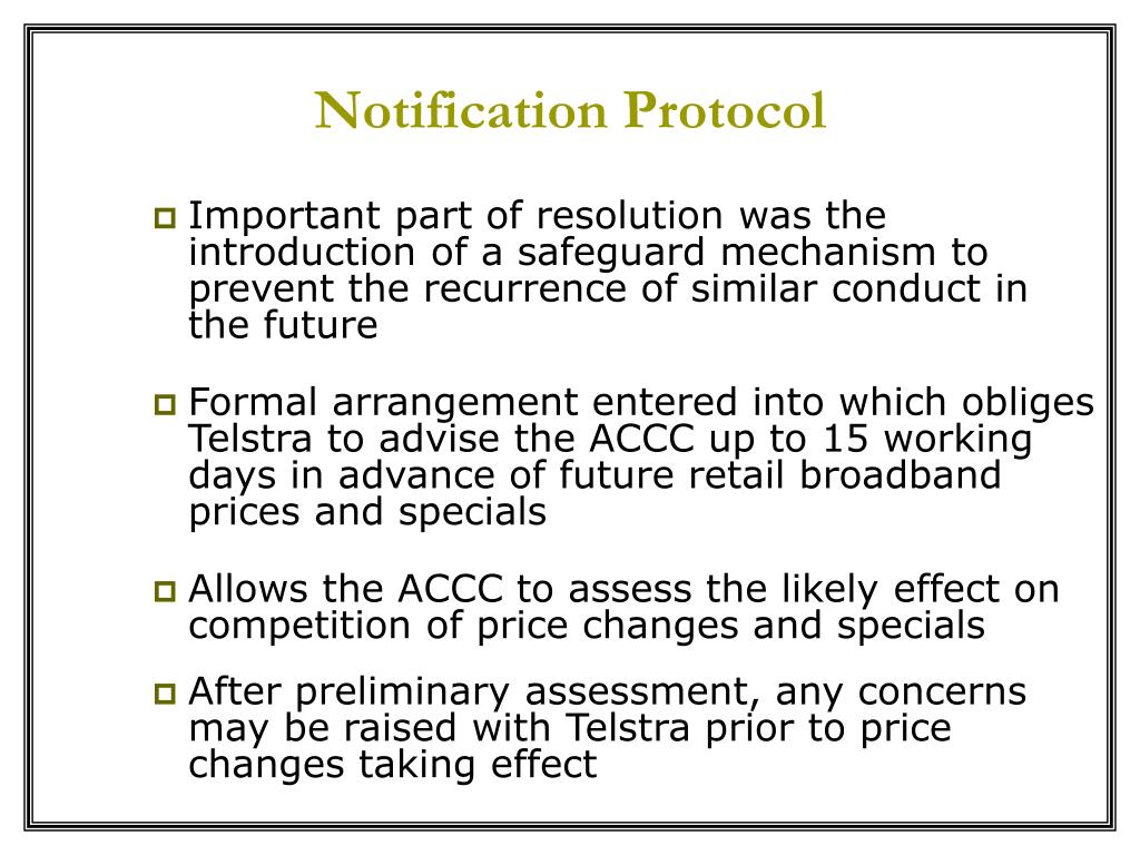 Notification Protocol