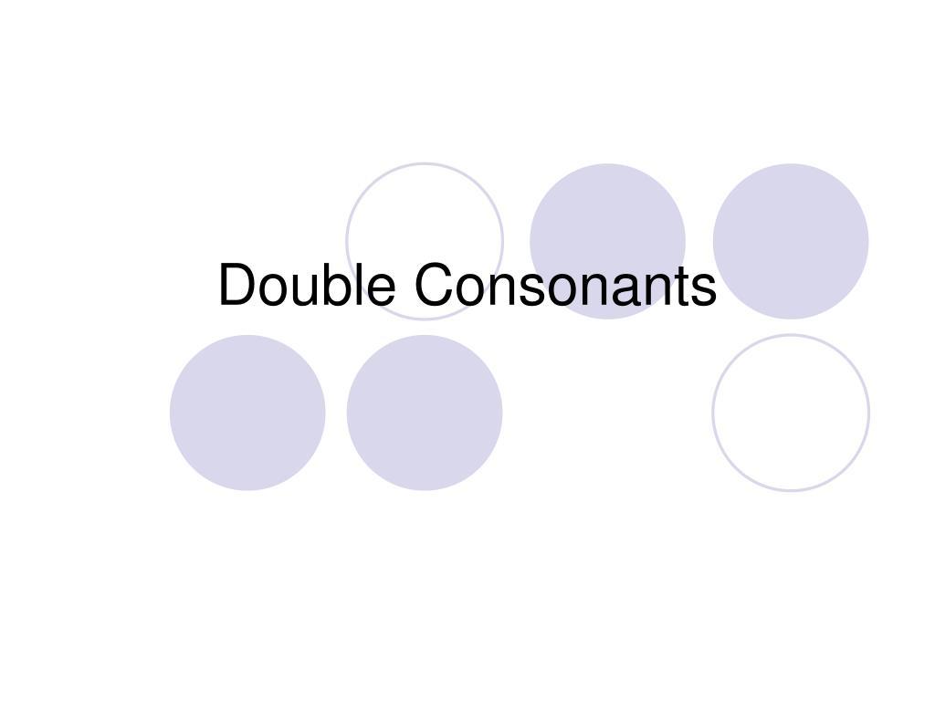 double consonants l.