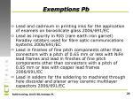 exemptions pb