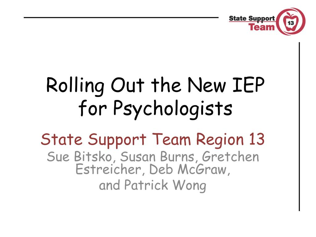 rolling out the new iep for psychologists l.