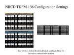 niicd tdfm 136 configuration settings
