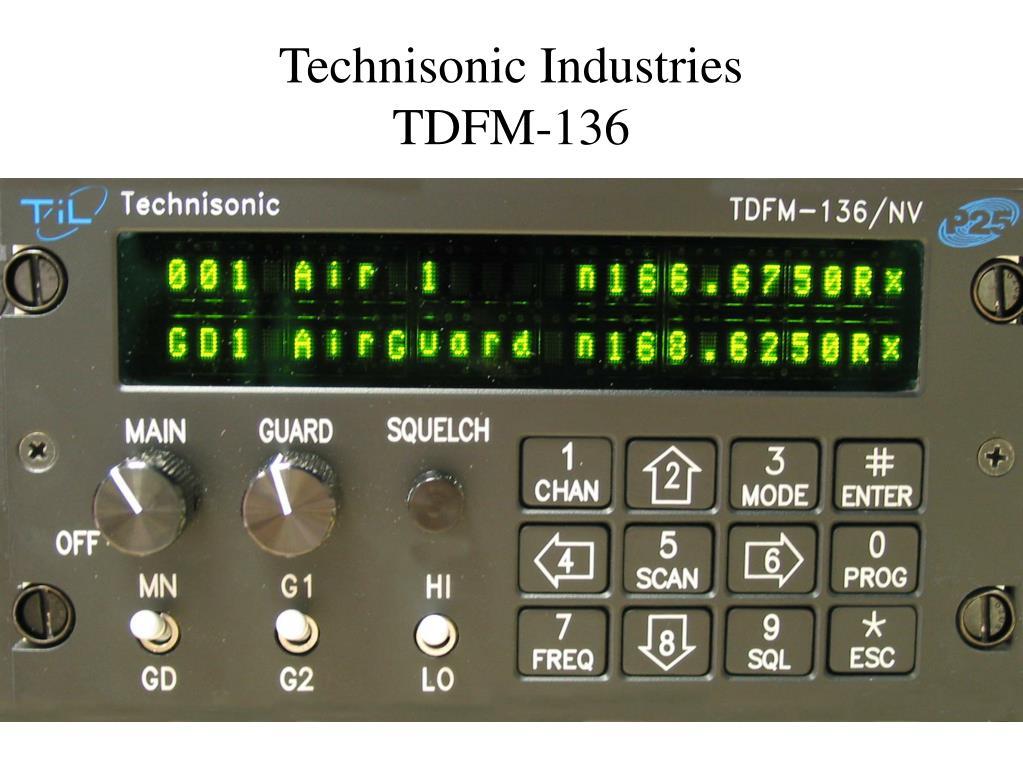 technisonic industries tdfm 136 l.