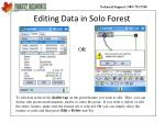 editing data in solo forest