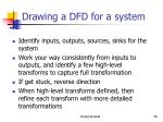 drawing a dfd for a system
