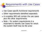 requirements with use cases