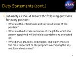 duty statements cont21