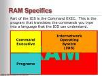 ram specifics11