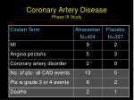 coronary artery disease phase iii study