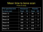 mean time to bone scan phase iii study