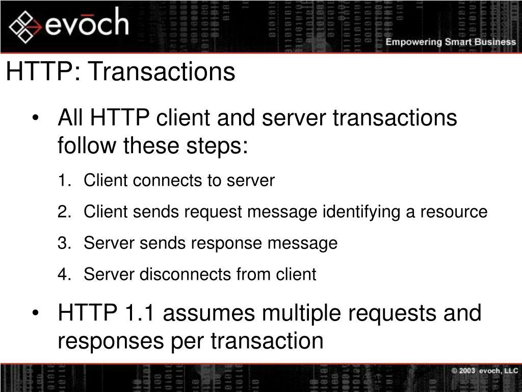 HTTP: Transactions