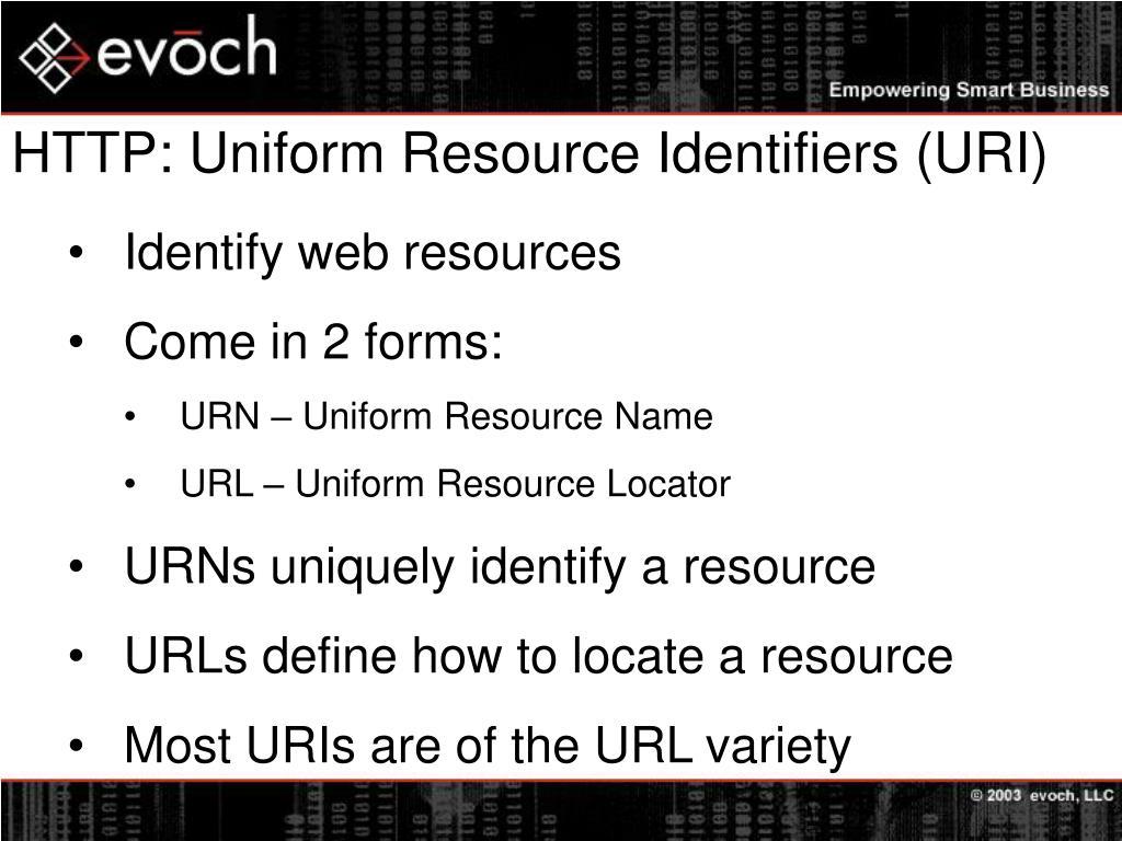 HTTP: Uniform Resource Identifiers (URI)