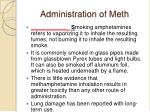 administration of meth12
