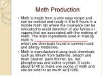 meth production