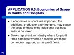 application 6 5 economies of scope in banks and hospitals79