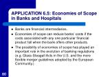application 6 5 economies of scope in banks and hospitals80