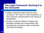 the legal framework socking it to the consumer