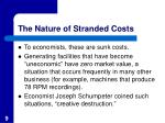 the nature of stranded costs9