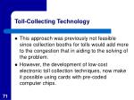 toll collecting technology