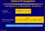 optical propagation the signature of atmospheric turbulence12