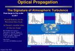 optical propagation the signature of atmospheric turbulence18