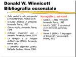 donald w winnicott bibliografia essenziale