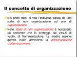 il concetto di organizzazione