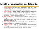 livelli organizzativi del falso s