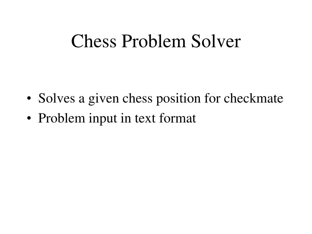 chess problem solver l.