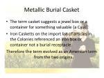 metallic burial casket30