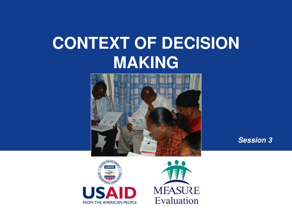 context of decision making l.