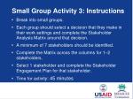 small group activity 3 instructions