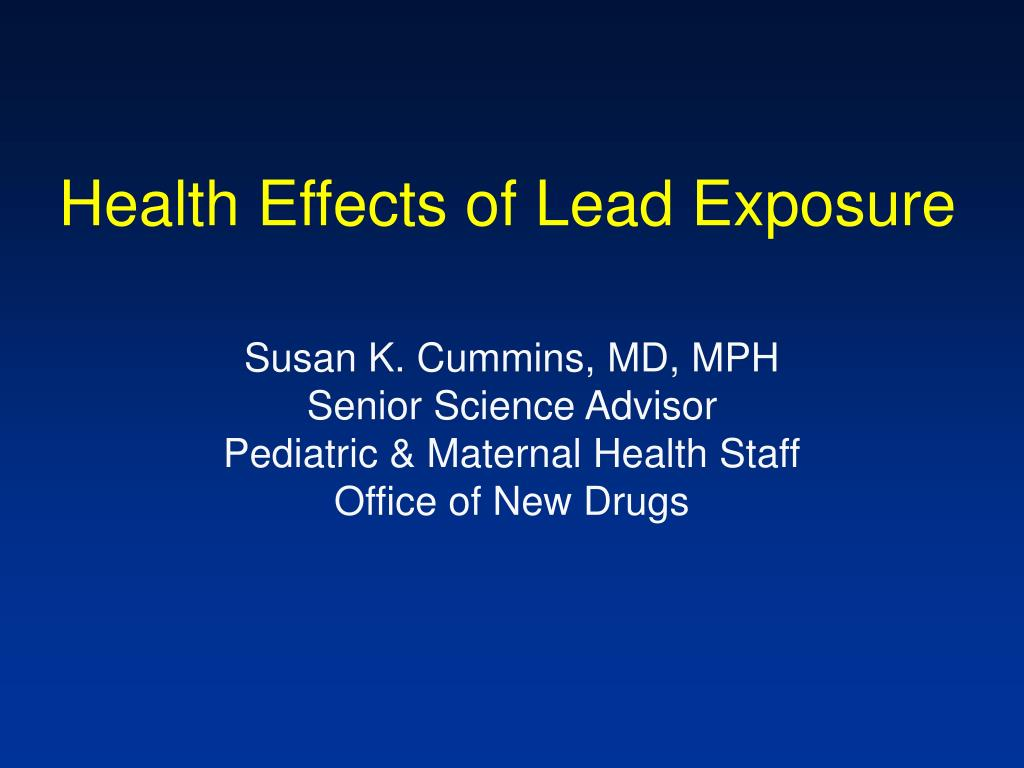 health effects of lead exposure l.