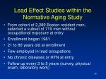 lead effect studies within the normative aging study