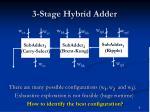 3 stage hybrid adder6