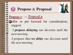 propose proposal
