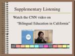 supplementary listening