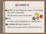 variety n
