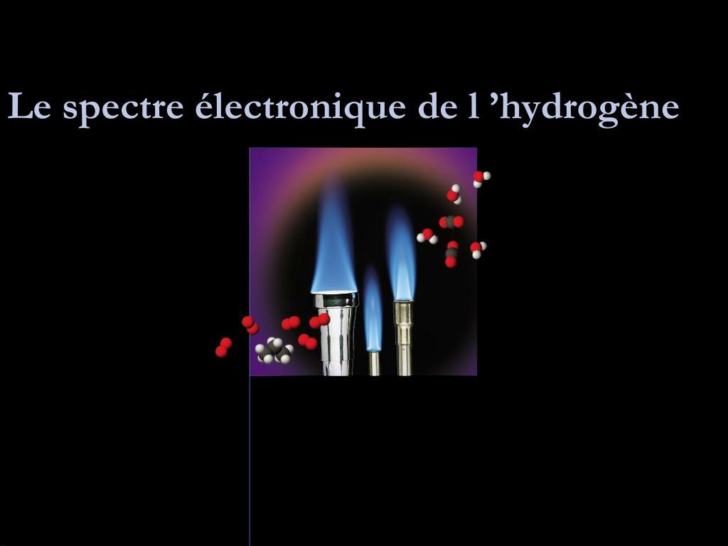 le spectre lectronique de l hydrog ne l.