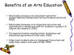 benefits of an arts education
