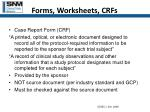 forms worksheets crfs