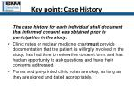 key point case history