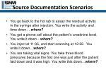 source documentation scenarios