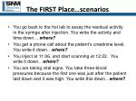 the first place scenarios