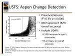 usfs aspen change detection